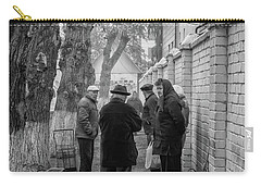 Carry-all Pouch featuring the photograph Discussion by John Williams