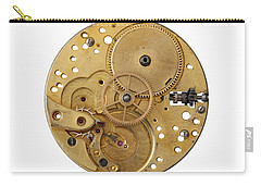 Carry-all Pouch featuring the photograph Dismantled Clockwork Mechanism by Michal Boubin