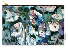 Carry-all Pouch featuring the painting Disney Petunias by Mindy Newman