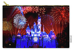 Disneyland 60th Anniversary Fireworks Carry-all Pouch by Mark Andrew Thomas