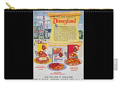 Carry-all Pouch featuring the digital art Disneyland And Aunt Jemima Pancakes  by ReInVintaged