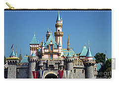 Carry-all Pouch featuring the photograph Disneyland Castle by Mariola Bitner