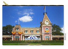Carry-all Pouch featuring the photograph Disneyland Entrance by Mark Andrew Thomas