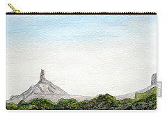 Distant Chimney Rock Near Scottsbluff Nebraska Carry-all Pouch by R Kyllo