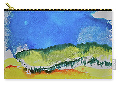 Carry-all Pouch featuring the painting Distant Peaks by Michele Myers