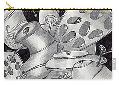 Distorted Images Carry-all Pouch by Quwatha Valentine
