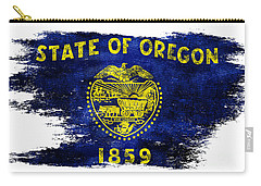 Distressed Oregon Flag Carry-all Pouch by Jon Neidert