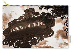 Distressed Parisian Street Sign Carry-all Pouch