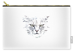 Disturbed Cat Carry-all Pouch by Everet Regal