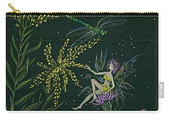 Ditchweed Fairies Goldenrod And Thistle Carry-all Pouch