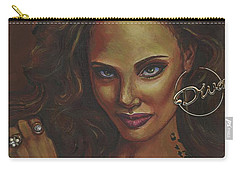 Carry-all Pouch featuring the painting Diva by Alga Washington