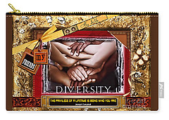 Carry-all Pouch featuring the digital art Diversity by Kathy Tarochione