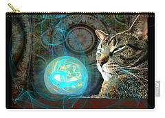 Carry-all Pouch featuring the digital art Divination by Anastasiya Malakhova