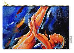 Carry-all Pouch featuring the painting Diving Diva by Hanne Lore Koehler