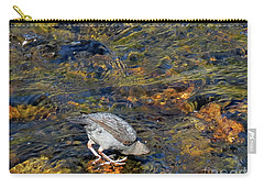 Carry-all Pouch featuring the photograph Diving For Food by Ausra Huntington nee Paulauskaite