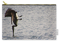 Carry-all Pouch featuring the photograph Diving Pelican by Laurel Talabere