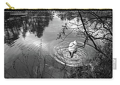 Diving Swan Carry-all Pouch by Glenn DiPaola