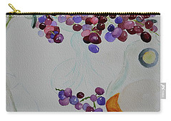 Carry-all Pouch featuring the painting Django's Grapes by Beverley Harper Tinsley