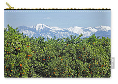 Carry-all Pouch featuring the photograph Dm6850-e Orange Grove And The Sierra Nevada Ca by Ed Cooper Photography