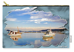 Carry-all Pouch featuring the photograph Do-00115 Boats In Gosford by Digital Oil