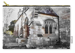 Carry-all Pouch featuring the photograph Do-00116 Church In Morpeth by Digital Oil