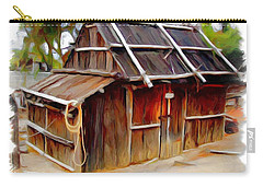 Carry-all Pouch featuring the photograph Do-00129 Old Cottage by Digital Oil