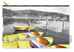 Do-00279 Yellow Boats Carry-all Pouch