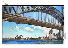 Carry-all Pouch featuring the photograph Do-00284 Sydney Harbour Bridge And Opera House by Digital Oil