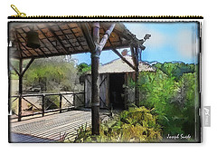 Carry-all Pouch featuring the photograph Do-00342 Terrace Bois Des Pins by Digital Oil