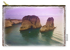 Carry-all Pouch featuring the photograph Do-00404 Grotte Aux Pigeons by Digital Oil