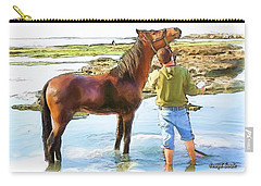 Do-00421 Washing Horse In Mina Carry-all Pouch