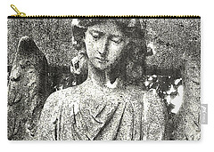 Carry-all Pouch featuring the mixed media Do Angels Look Sad  by Fine Art By Andrew David
