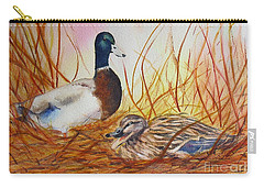 Carry-all Pouch featuring the painting Do Not Disturb by Beatrice Cloake
