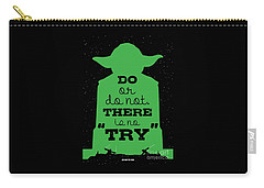 Do Or Do Not There Is No Try. - Yoda Movie Minimalist Quotes Poster Carry-all Pouch