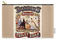 Carry-all Pouch featuring the digital art Dobbins Medicated Toilet Soap by ReInVintaged
