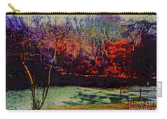 Dock At Central Park Carry-all Pouch by Sandy Moulder