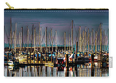 Docked Sailboats Carry-all Pouch by David Patterson