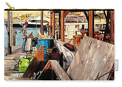 Docks At Port Aransas Carry-all Pouch