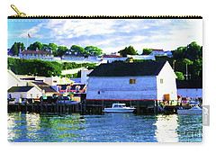 Carry-all Pouch featuring the painting Dockside by Desiree Paquette