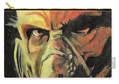 Carry-all Pouch featuring the painting Doctor Satan by Taylan Apukovska