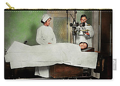 Carry-all Pouch featuring the photograph Doctor - Xray - Getting My Head Examined 1920 by Mike Savad