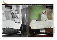 Carry-all Pouch featuring the photograph Doctor - Xray - Getting My Head Examined 1920 - Side By Side by Mike Savad