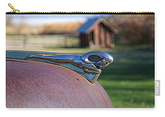Carry-all Pouch featuring the photograph Dodge Emblem by Ely Arsha