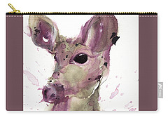 Carry-all Pouch featuring the painting Doe by Dawn Derman