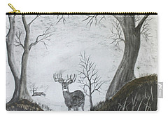 Carry-all Pouch featuring the drawing Doe by Jack G Brauer