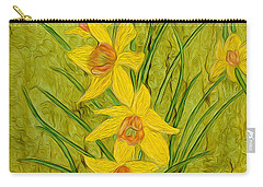 Daffodils Too Carry-all Pouch