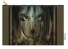 Dog Art  Sad Eyes Carry-all Pouch