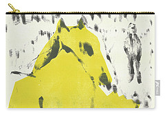 Dog At The Beach - Black Ivory 2 Carry-all Pouch