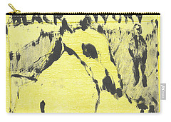 Dog At The Beach - Black Ivory 3 Carry-all Pouch