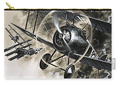 Dog Fight Between British Biplanes And A German Triplane Carry-all Pouch